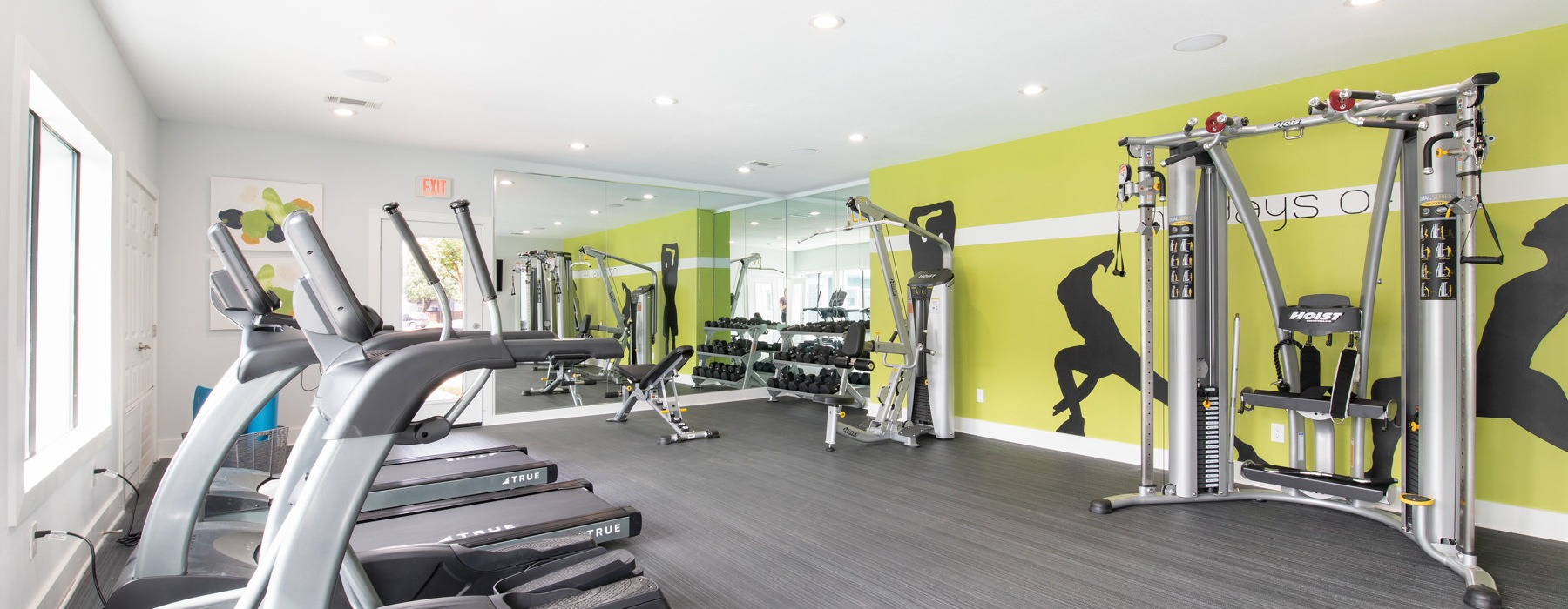 Up to date fitness center centrally located